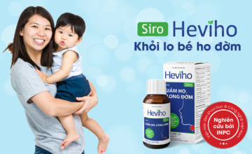 Siro Heviho – Giúp giảm ho, long đờm cho trẻ từ Viện Hàn lâm KH&CN Việt Nam
