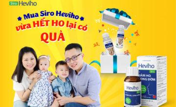Siêu hot: Siro Heviho tặng miễn phí Gel rửa tay khô cho các bé